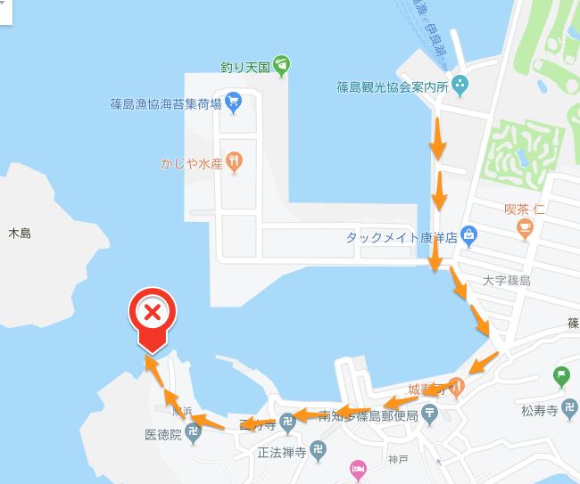 篠島の釣りポイント1