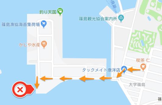 篠島の釣りポイント