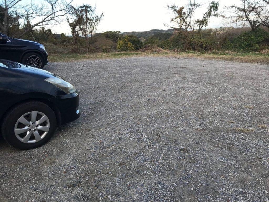 南知多にある桜公園の駐車場