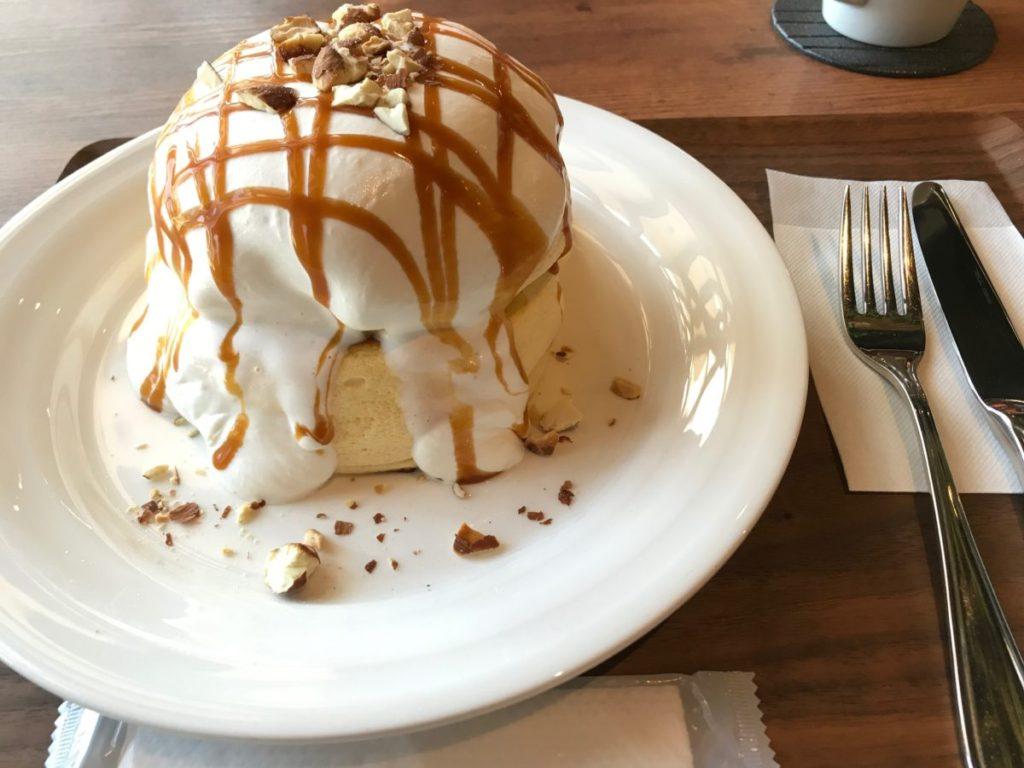 LUSH WASH CAFEのパンケーキ