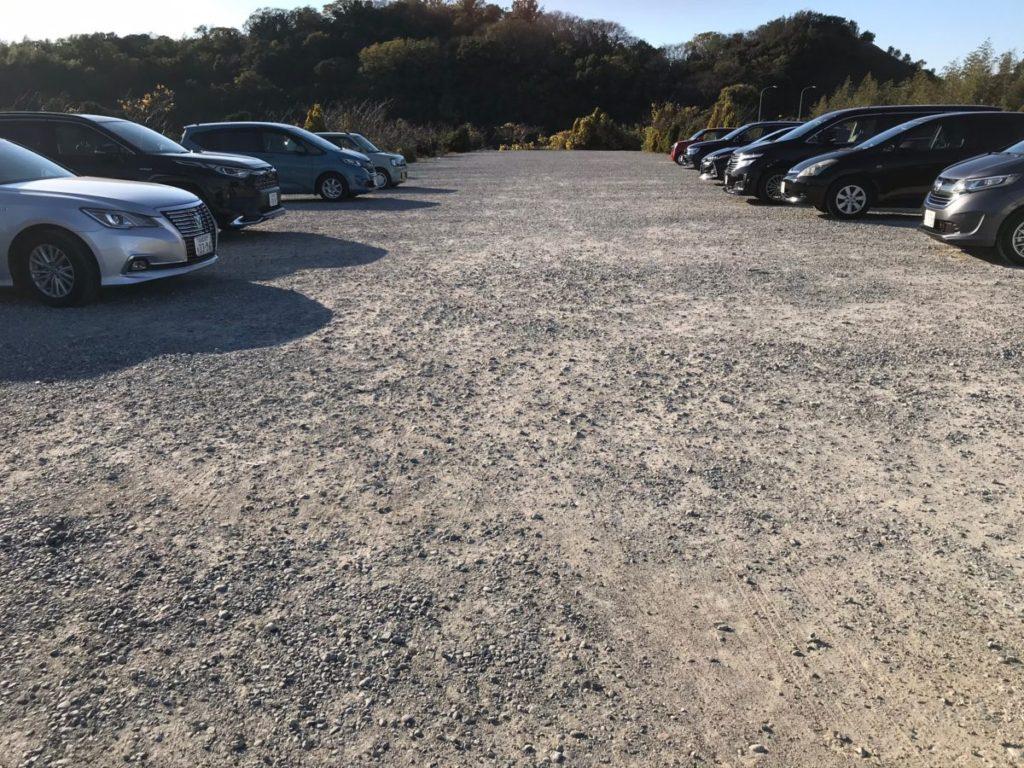 観光農園花ひろばの駐車場