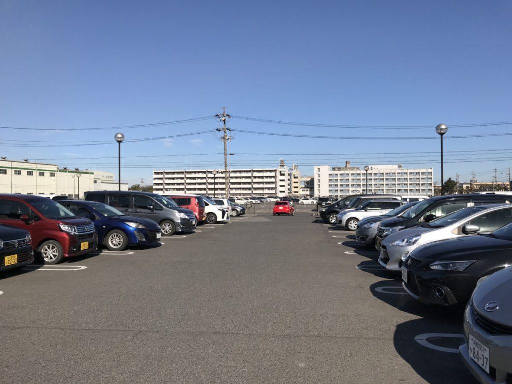 玉ノ湯の駐車場