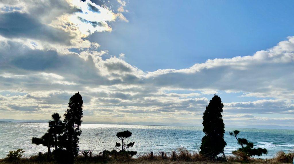 日吉苑の海