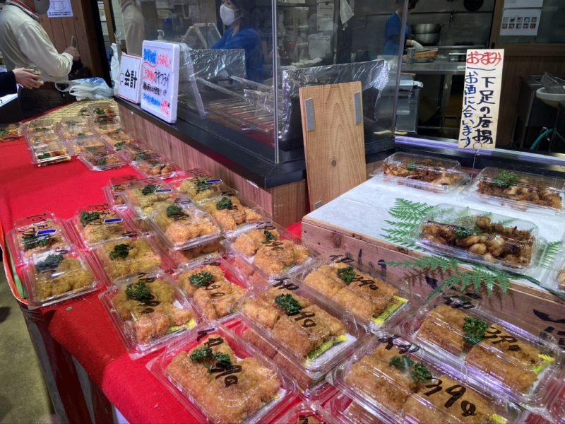 魚太郎の揚げ物コーナー